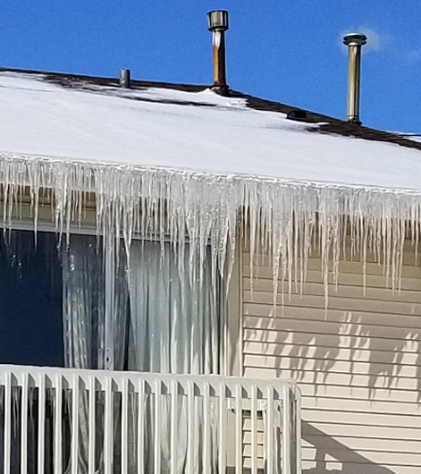 Ice Damming and Gutter Damage